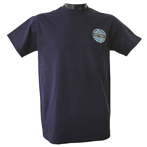 Sex Wax T-Shirt Blue Distressed Retro