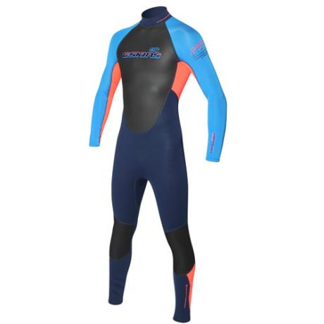 C-skins Junior 3-2mm Element Wetsuit - Red/Navy