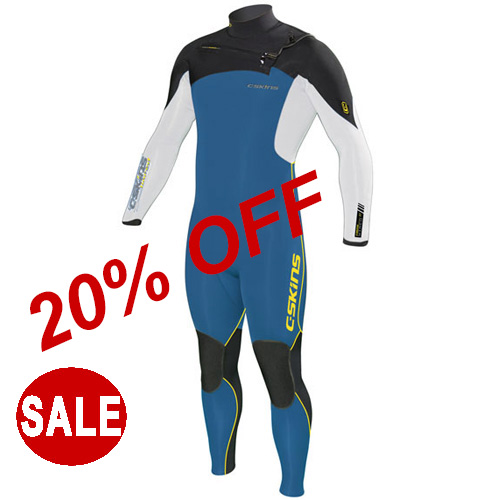 C Skins Mens Wetsuit 4-3mm Wired