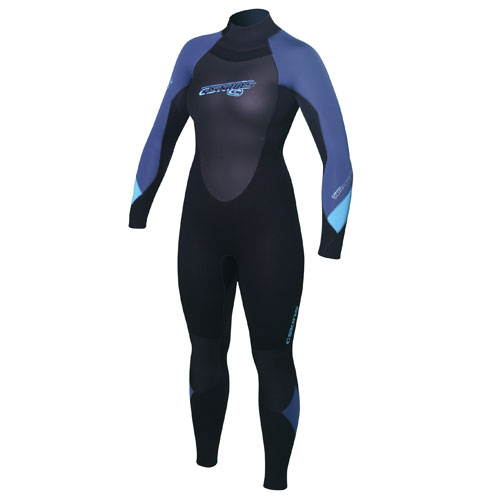 Ladies C-Skins Surflite Wetsuit - Black/Blue