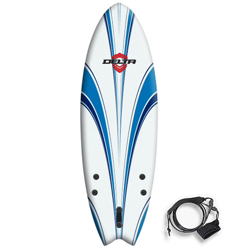 Delta Soft Surfboard 5ft 6in Hybrid Fish