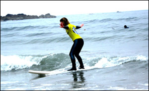 learn to surf with St Vedas Surf Shool