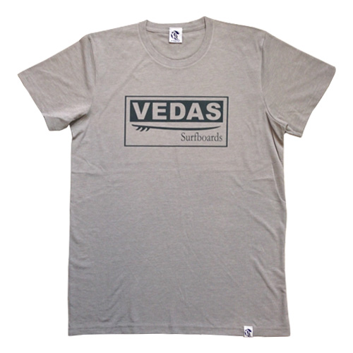 Light Grey Vedas Surfboards T-shirt