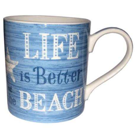 'Life is better at the beach' mug