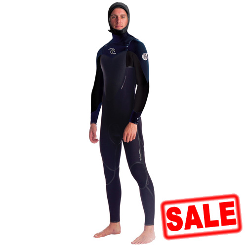 Rip Curl Mens 5.5/4mm Flash Bomb Hooded Winter Wetsuit