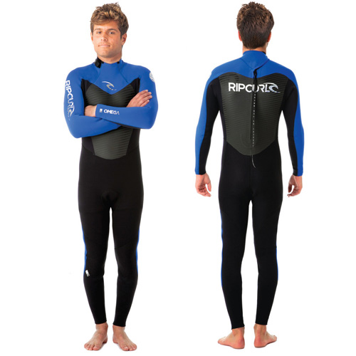 Rip Curl Mens 5-3mm Omega Wetsuit Black/Blue