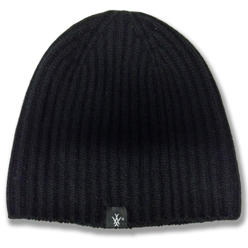 Stretchy Skullcap Beanie lambswool rib knit hat