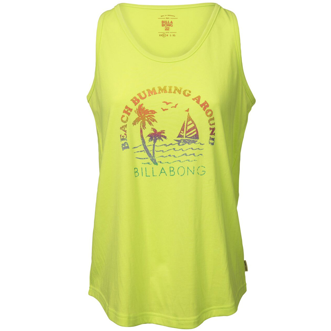 Womens billabong flourescent yellow vest