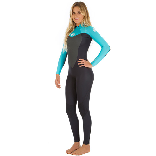 womens rip curl omega 5-3mm wetsuit - Turquoise